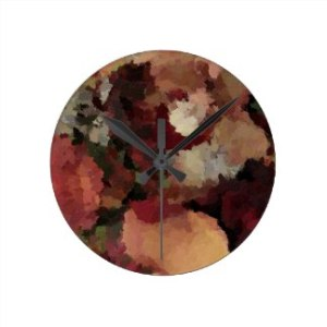 autumn_mosaics_round_wall_clock