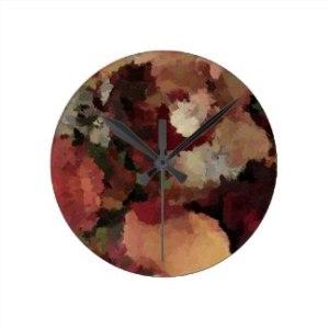autumn_mosaics_round_wall_clock