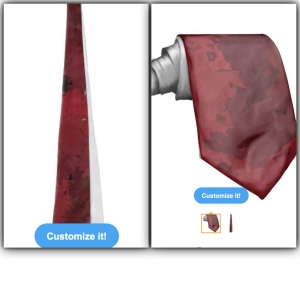 Winter red wedding tie