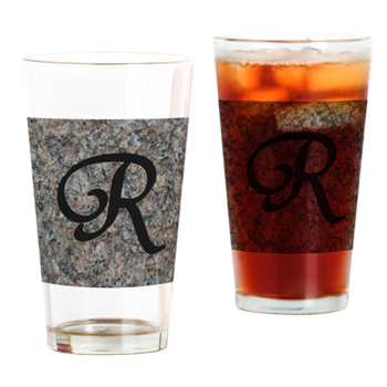 Monogram Letter R - drinking glasses by celeste@khoncepts.com